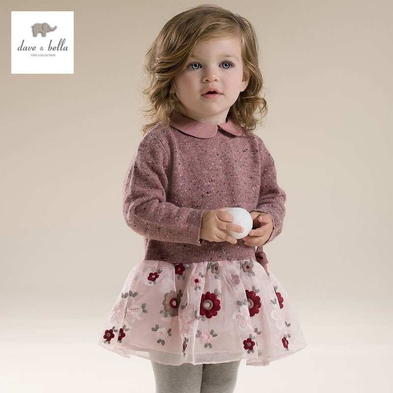 DB2731 dave bella autumn  princess dress  toddler cute dress baby clothes infant dress  girl lolita dress