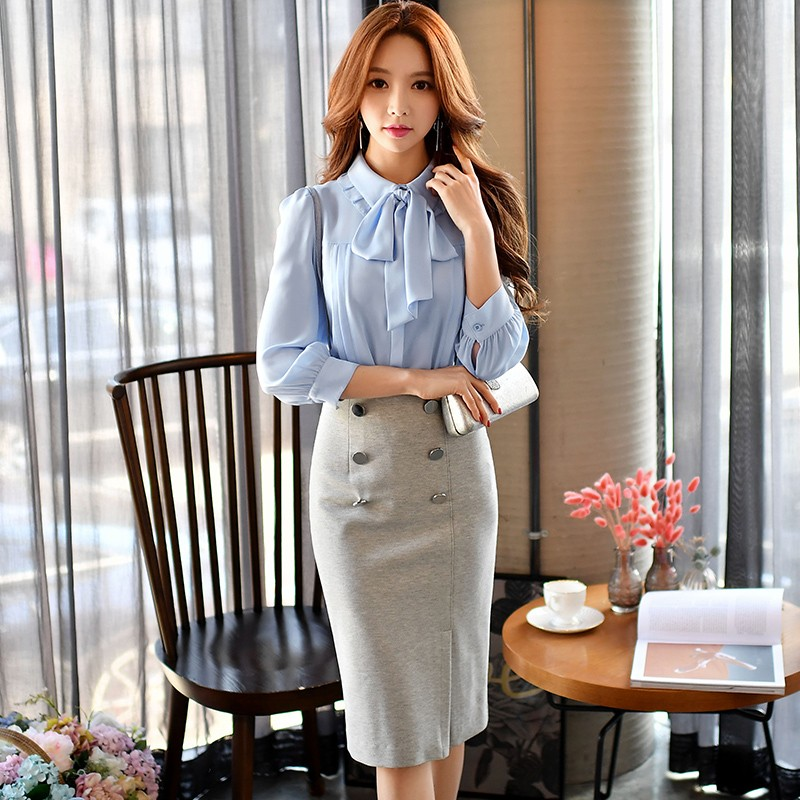 dabuwawa high-waist skirt 2017 spring new fashion temperament slim casual knee length split harness skirts women pink doll