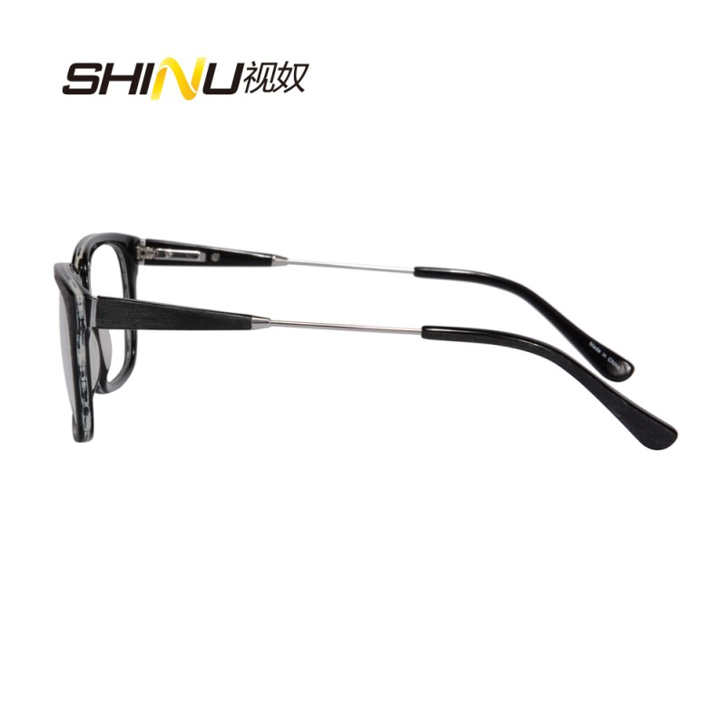 Square Imitation Wood Prescription Sunglasses Polarized Acetate Frame Sun Glasses Nearsighted Eyegalsses Diopter -1.0 to -4.0