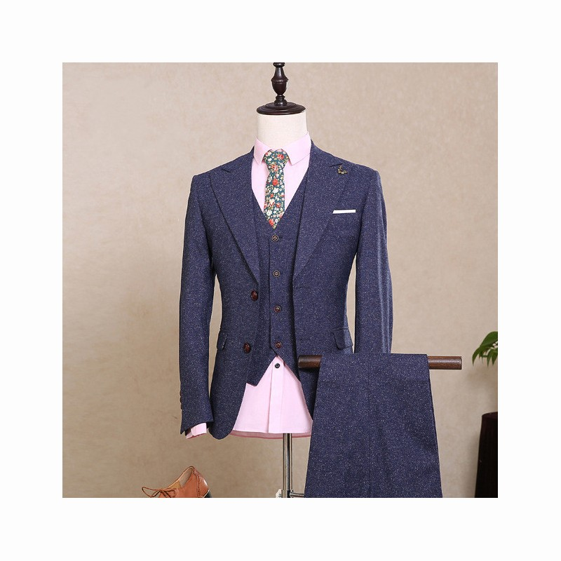 482170e796 (jacket+pants+vest) New fashion male singer men suit spring autumn casual  slim fit prom groom business party wedding suit