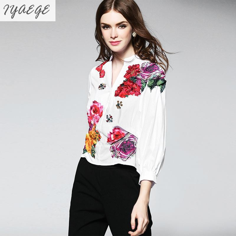 100% Cotton Girls Blouse Girl Female Shirt Cool Long Sleeve Feminine Women Summer Ruffle Blusa Top Femme Fashion Boho Blusas