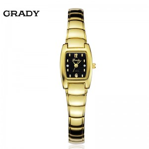 Free shipping Grady Watches women fashion luxury 18k Gold plated bracelet watch for women