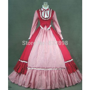Chinese Victorian Gothic Dress Ball Gown Prom Steampunk Punk Reenactment / Halloween Costumes Dress For Women For Women