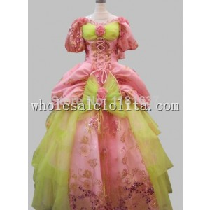 17 18th Century Marie Antoinette Baroque Rococo A Line Celebrity Prom Celebrity Pink Party Dresses  Ball Gown