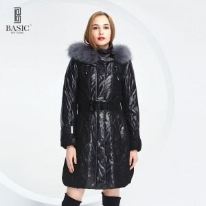 BASIC-EDITIONS new warm fur Cotton Coat jacket Fox Fur Winter woman coat - 11W-36