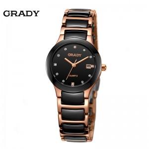Luxury Ceramic Water Resistant Women Wrist Watch,Free Shipping Top Quality Women Steel Ceramic Rhinestone watches