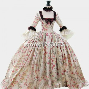 18th century Colonial Georgian Marie Antoinette gown Recently made for the displays at the world famous Dress