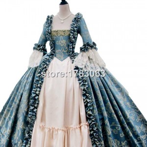 Fully Corseted Rococo Colonial Georgian 18thc Marie Antoinette Day Court gown Dress
