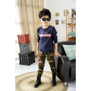 Fashion 2015 Boys Camouflage Pants Children Casual Outdoor Camo Pants Kids Army Design Colorful Trousers For Spring & Autumn