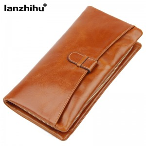 2016 New Arrival High Quality Leather Wallet for Women Cowhide Women's Genuine leather Purse Long Zipper Wallets Coin Pocket