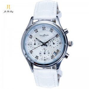 Brand Time Story Luxury Women Casual Dress Watches Ladies Quartz Analog Rhinestone Wristwatch 3 Sub-dial 6 Pointer Chronograph