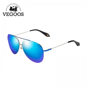 VEGOOS Designer Brand Real Polarized Sunglasses Men Women Colorful Reflective Coating Lens Eyewear Accessories Sun Glasses #3080