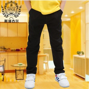 trousers child casual pants autumn new arrival spring and autumn single white black trousers 2016 Boys fashion high quality