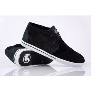 DVS ZERED teenagers kids skate  Shoes Black Anti-Fur Middle Top Street boy Shock-Absorbant Footwear Size9 Two Colors Available