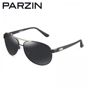 Parzin Cool Men Sunglasses Polarized Oversized Male Sunglasses Driver Sun Glasses  Shades Black With Case  8008