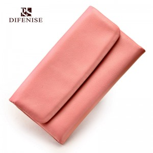 Difenise New arrival high quality Wallet Soft Genuine Cow Leather women wallets Women's Clutch Long Design Purse add Gift