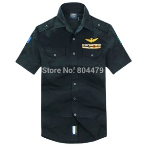 men shirt short sleeve Aeronautica Militare shirt brand shirt 5 colors with plus size men's clothing free shipping