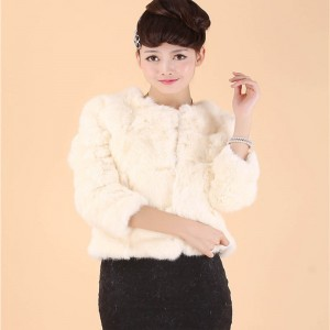 2016 New Rabbit Hair Short Fur Clothing Ladies Seven Sleeve T-shirt Rabbit Fur Coat. True Rex Fur Coat Jacket Free Shipping