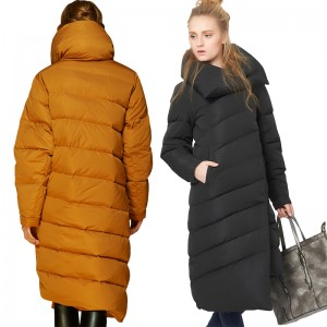 EMIR ROFFER 2017 Winter Women's Down Jacket Female Designer Fashion Asymmetric Long Thick Warm Snow Coat Parka Plus Size