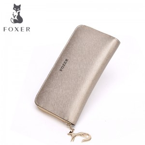FOXER Brand Women Leather Wallets Luxury Female Purse Women's Clutch wallet & Credit bag & Cellphone Bag for Women