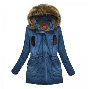 2016 Plus Size Women Denim Jacket Coat Fashion Autumn Winter Long Sleeve Women Fur Coat Oversized Casual Manteau Femme Outerwear