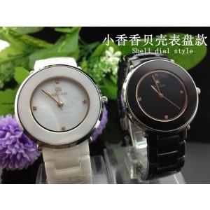 High-end ceramic classic women's watch, quartz watch, leisure precision waterproof watch women, top shell dial diamond watches
