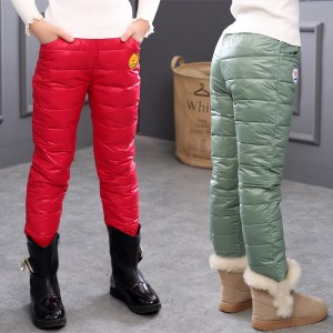 Winter Girls Pants Pooh Kids Clothes Baby Boys and Girls Casual Pants Down Cotton Keep Warm 3T 4T 5T 6T 7T 8T 9T Feather ps116