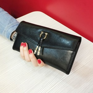 free shipping new fashion brand women's long wallet ladies purse money pack 100% genuine leather in-kind shooting wholesale