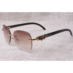 Hot selling Men and Women's 3524012 pilot black Cattle horn Sunglasses , size: 58-18-140 mm