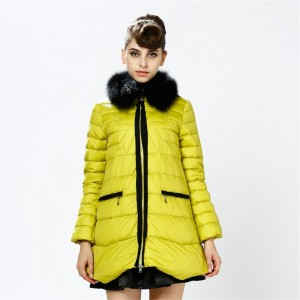 Poncho Style Women Down Coats Jackets Long Woman Down Parka With Fur Collar Fashion Winter Coat Girl Winter Collection YH981