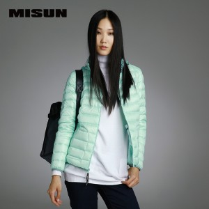 Misun 2016 down coat with a hood short design slim thin female down coat outerwear
