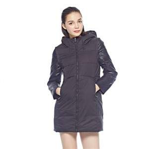 OL Style Women Down Coats Jackets Long Woman Down Parka With A Hat Fashion Female Winter Coat Girl Winter Collection YJW6H50