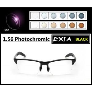 Photochromic Sunglasses Men Optical Myopia Prescription PGX and PBX 1.56/1.61/1.67 Optical Lenses EXIA OPTICAL KD-24 Series