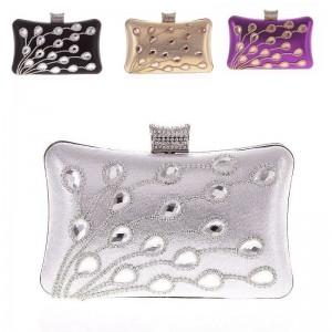 NEW Women's Wedding Crystal Rhinestone Evening Clutch Bags Handbag Purse Satchel