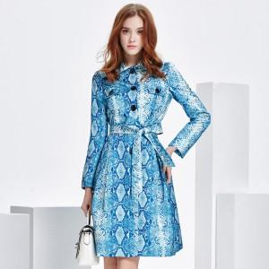 2017 new spring snake coat dress high-end luxury coat thin coat female temperament