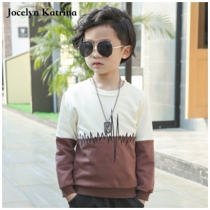 Jocelyn Katrina 2017 New Style Fashion All-Match Kids Boys T-shirts Childrens Bobo Choses Tops T shirts Clothing Teenage Clothes