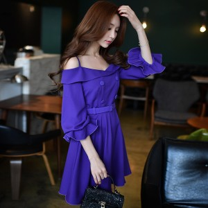 dabuwawa 2017 new dress off shoulder arge sizes spring new ladies fashion trendy buttons prom strapless dresses women pink doll