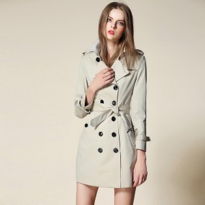 2017 New Women Trench Coat Spring Womens Clothing Windbreaker British Style Runway Fashion Designer Burderry Plus Size Outwear
