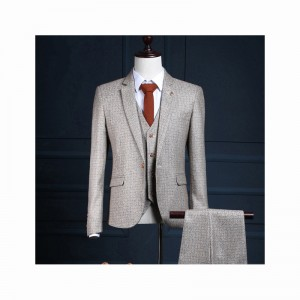 (jacket+pants+vest) New fashion male singer men suit spring autumn personality casual slim fit prom groom party wedding suit