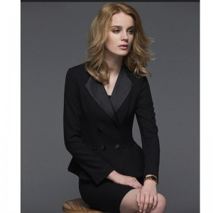 Custom made Black Ladies Office Skirt Suit New   Uniform Designs Women Business Suits formal Work wear Female Suits