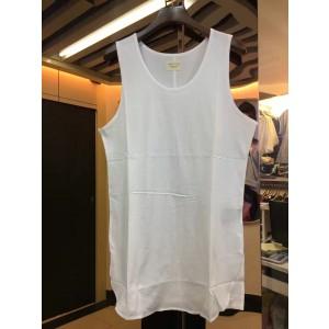 2017 summer New tank tops men fashion hem urban clothing undershirt extended vests Black, white clothing S-XXL