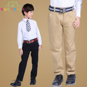 Kids 2017 Spring&Autumn 2-14T Boys Girls Solid Casual Pants Teen Clothing Leisure Children Vague School Teens Trousers L345