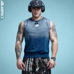 Aimpact Mens Gradient Tank Tops Bodybuilding Clothing Fitness Sportive Suit Vintage Men Crossfit Workout Tank Top 2017 AM1002