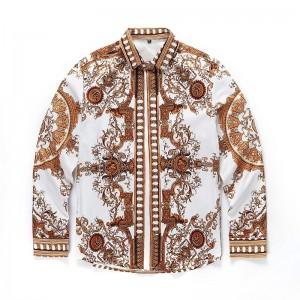 2017 quality brand men's 3D European style casual shirt, long-sleeved men's fashion shirt men's shirt