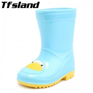 New Children Candy Cartoon Rubber Rain Boots Boys Girls Soft Baby Antiskid Toddler Boots Waterproof Sports Shoes Kids' Sneakers