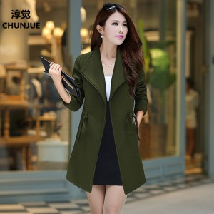 Plus Size 2xl-5XL 6XL Woman Jacket Loose Woolen Dress New Winter Coats Fashion warm jackets fall down coat women tops wool coat