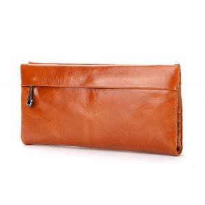 free shipping new fashion brand women's long wallet ladies purse classic oil wax first layer cow leather large capacity luxury